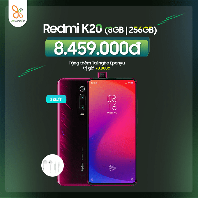 Redmi K20 256GB mới giảm thêm đến 500K
