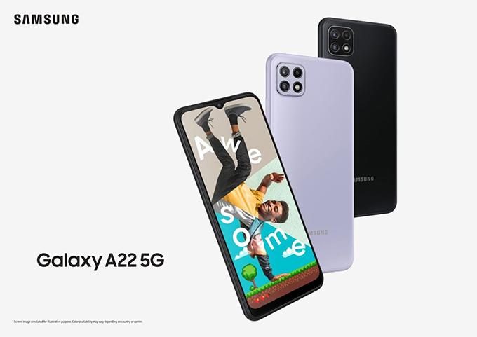 sự khác biệt lớn nhất của Galaxy A22 4G và Galaxy A22 5G đó chính là màn hình