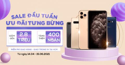 Deal chớp nhoáng: iPhone 11 Pro Max, Xs Max, Mi 11 Lite 5G giảm đến 2.8 triệu, quà đến 600K
