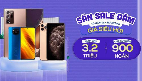 Săn sale đậm: Mua Galaxy Note 20 Ultra 5G, iPhone 11 Pro giảm đến 3,2 triệu