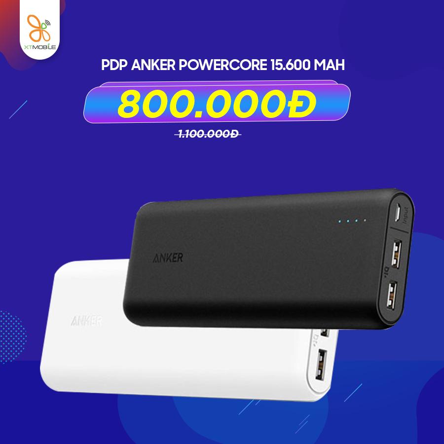 Pin dự phòng Anker Powercore 15.600 mAh giá 1.100.000đ giảm 300.000đ chỉ còn 800.000đ
