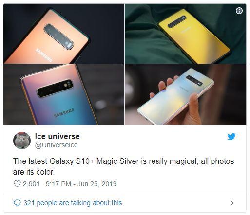 Galaxy S10 Plus Prism Silver đa sắc tuyệt đẹp