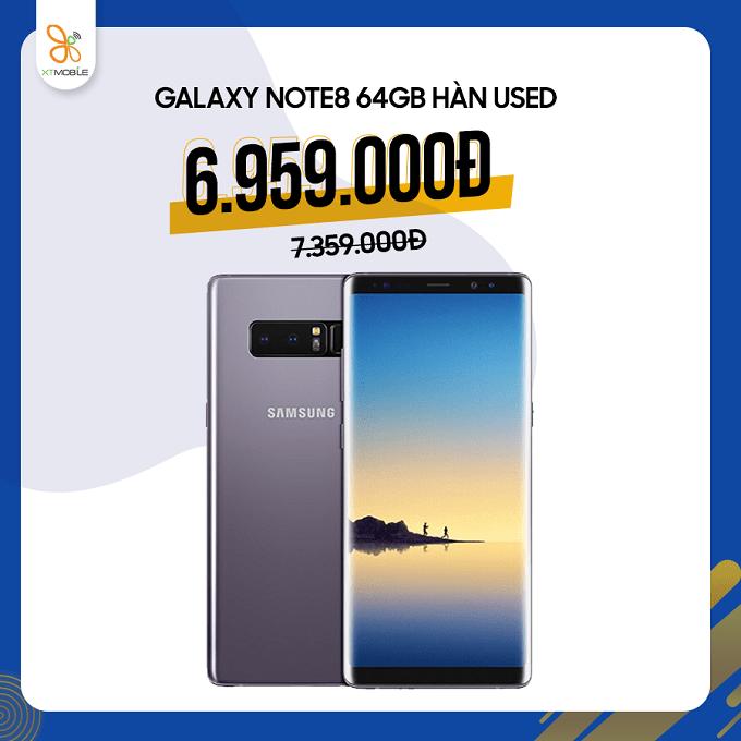 Galaxy Note 8 Hàn cũ giảm thêm 400K chỉ còn 6,9 triệu đồng