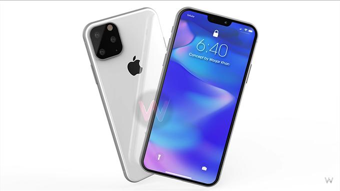 iPhone XI sẽ được thiết lập 3 camera mặt sau với được sắp xếp theo hình tam giác và đặt bên trong ô hình vuông