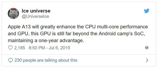 iPhone XI được tích hợp chip xử lý Apple 13 mạnh mẽ