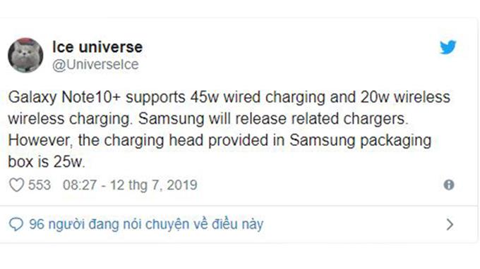 Thông tin về Galaxy Note 10