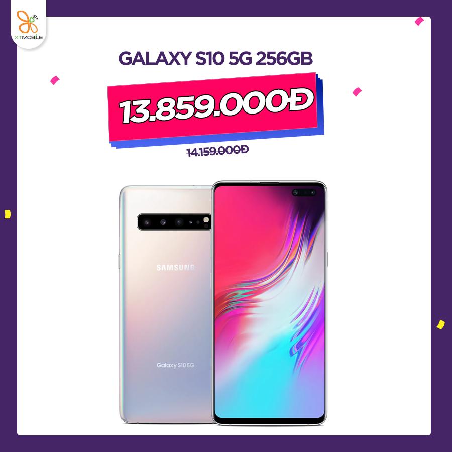 Galaxy S10 5G 256GB cũ giá 14.159.000đ giảm thêm 300.000đ chỉ còn 13.859.000đ