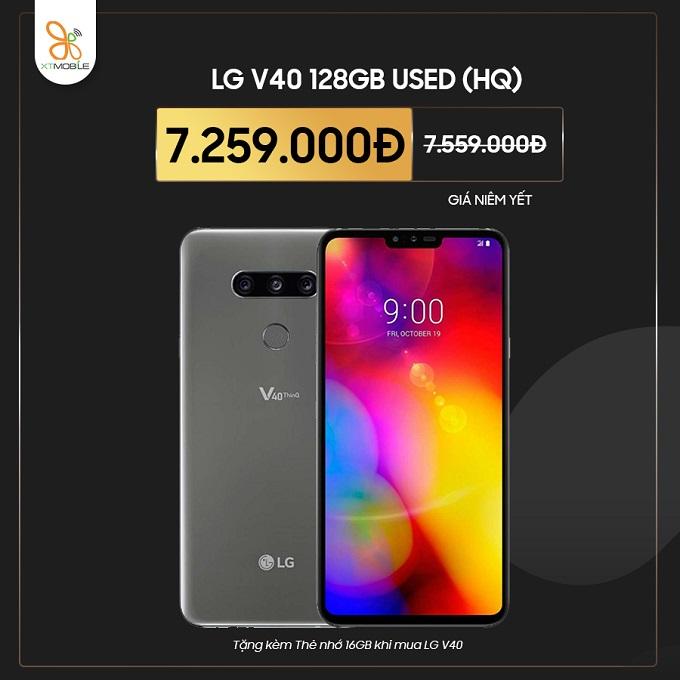 LG V40 cũ giảm giá và tặng thêm thẻ nhớ tại XTmobile
