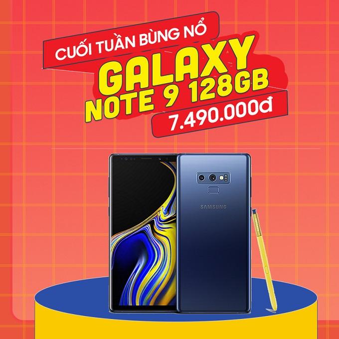 Samsung Galaxy Note 9 giá chỉ còn 7.4 triệu