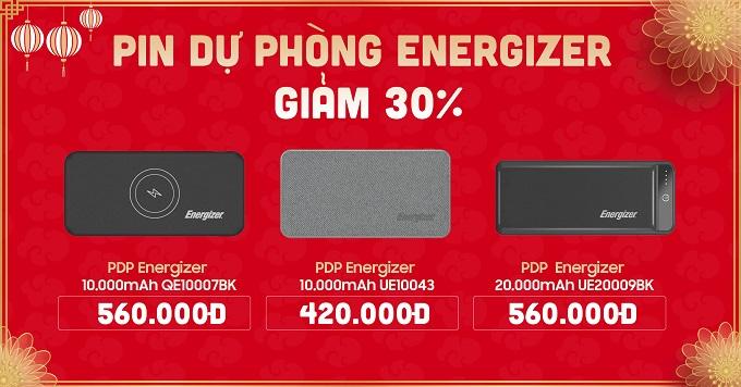 Pin dự phòng Energizer giảm đến 30%