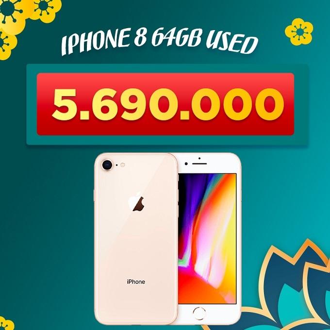 iPhone 8 64GB cũ giảm thêm 900.000đ giá chỉ còn 5.690.000đ