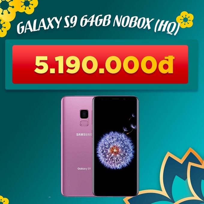 Galaxy S9 64GB Nobox giảm thêm 800.000đ giá chỉ còn 5.190.000đ