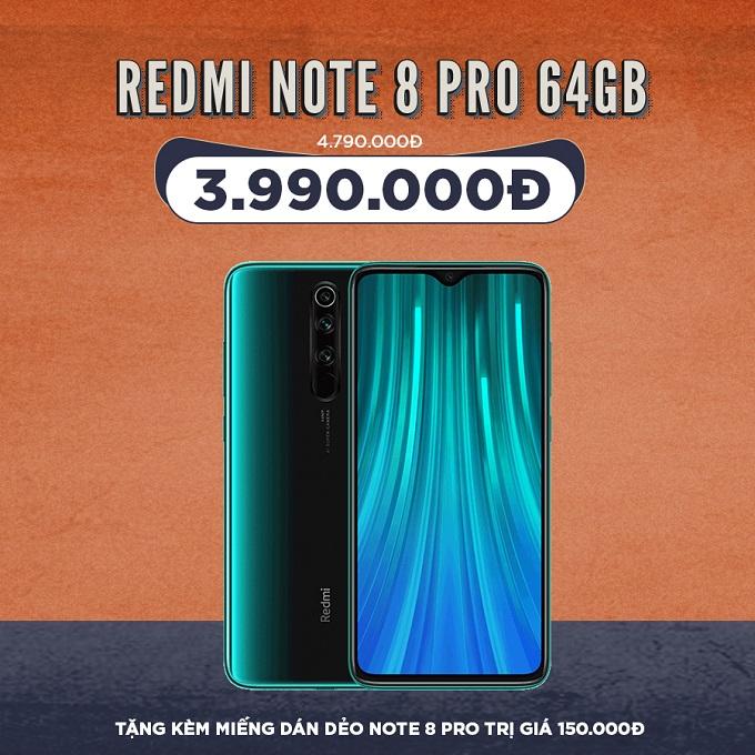Xiaomi Redmi Note 8 Pro giá cực tốt chỉ 3,8 triệu