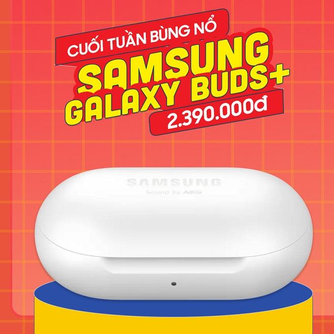 Tai nghe Galaxy Galaxy Buds+ giá chỉ còn 2.3 triệu