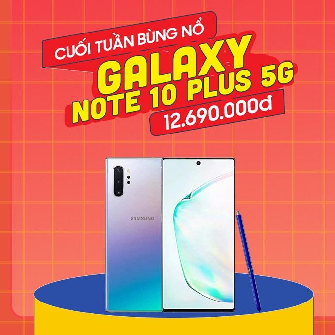 Samsung Galaxy Note 10 Plus 5G giá chỉ còn 12.6 triệu