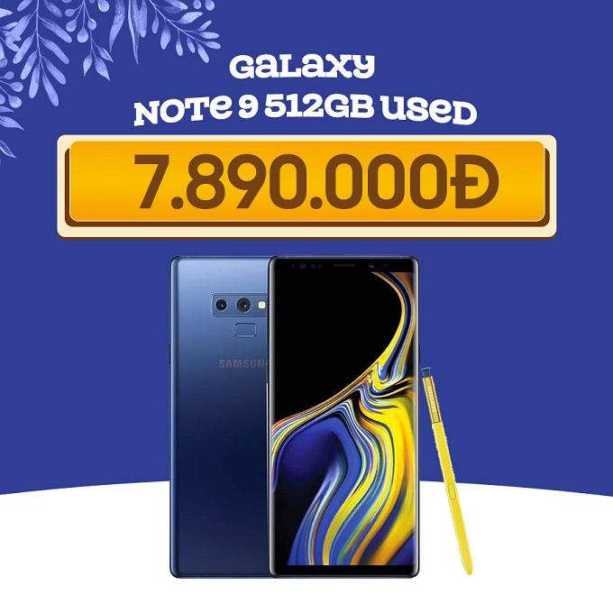 Samsung Galaxy Note 9 giá chỉ còn 7.8 triệu