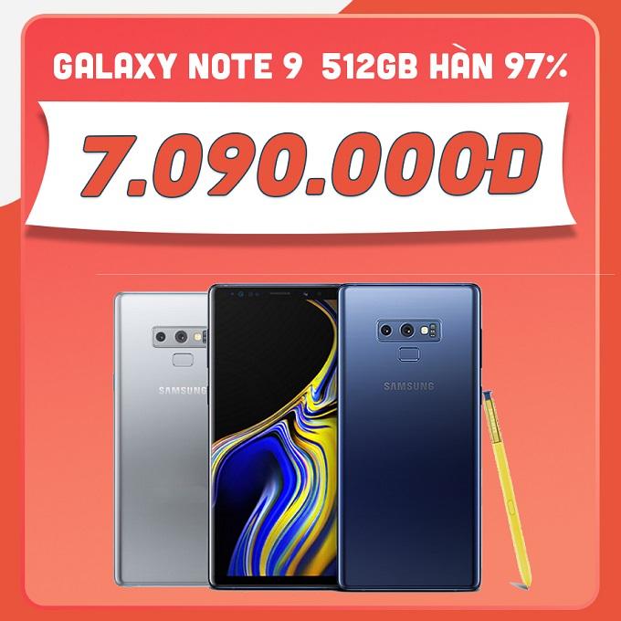 Samsung Galaxy Note 9 512GB 97% giá chỉ còn 7 triệu