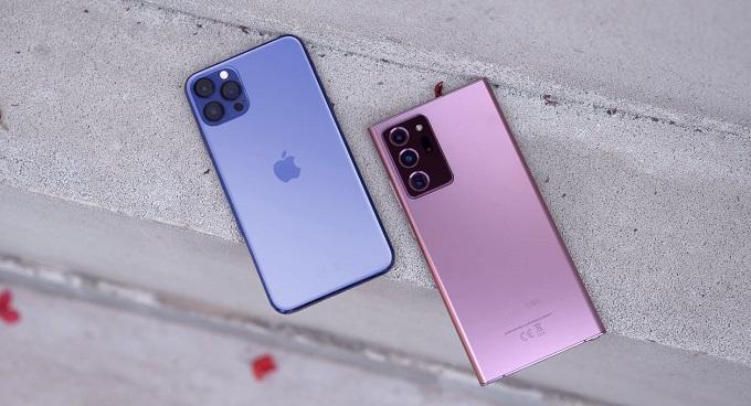 thiết kế iPhone 12 Pro Max và Galaxy Note 20 Ultra