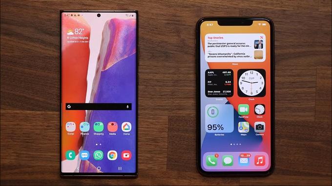 Màn hình iPhone 12 Pro Max và Galaxy Note 20 Ultra