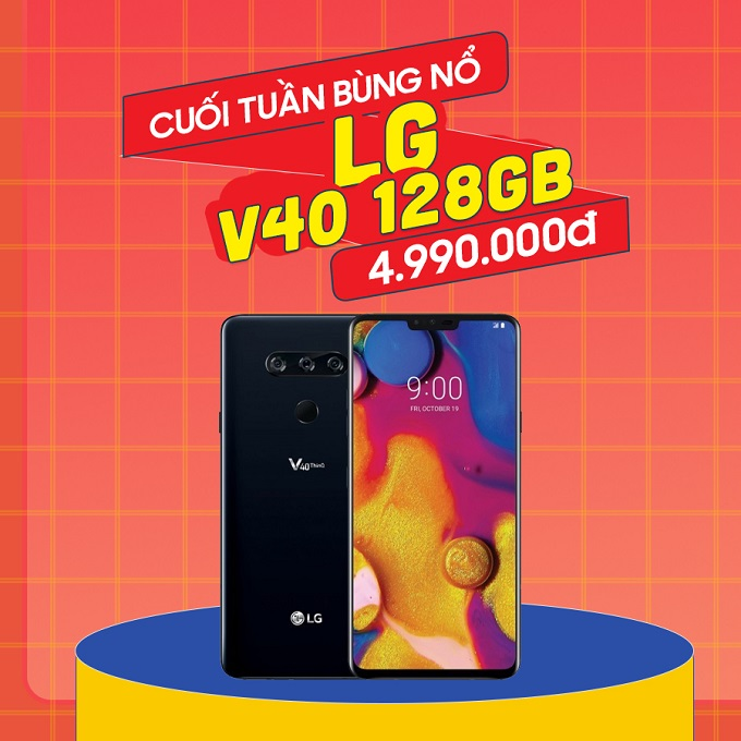 LG V40 giá chỉ còn 4.9 triệu