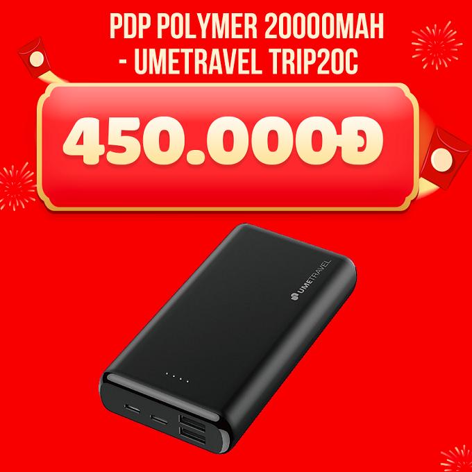 Pin dự phòng Umetravel TRIP20C 20.000mAh giảm giá 320.000đ
