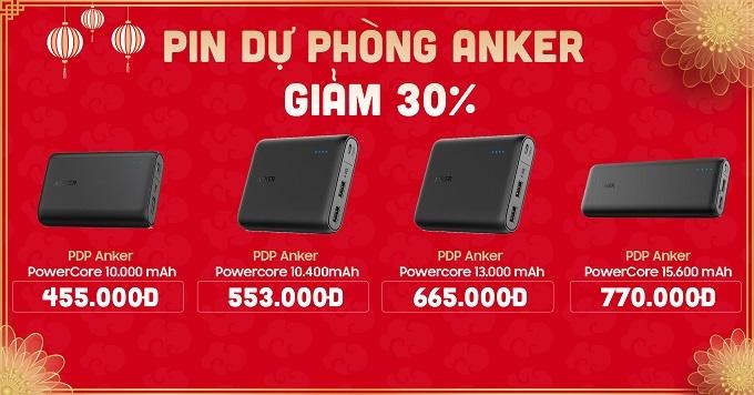 Pin dự phòng Anker giảm đến 30%