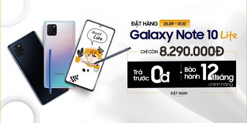 Mua Galaxy Note 10 Lite giá giảm đến 3.2 triệu còn 8.2 triệu, chỉ ưu tiên cho khách hàng đã đặt trước