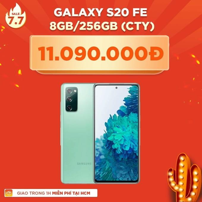 Galaxy S20 FE 256GB CTY giảm thêm 4.400.000đ