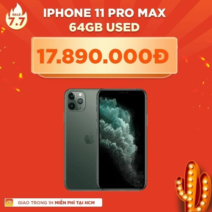 iPhone 11 Pro Max 64GB cũ giảm thêm 2.800.000đ