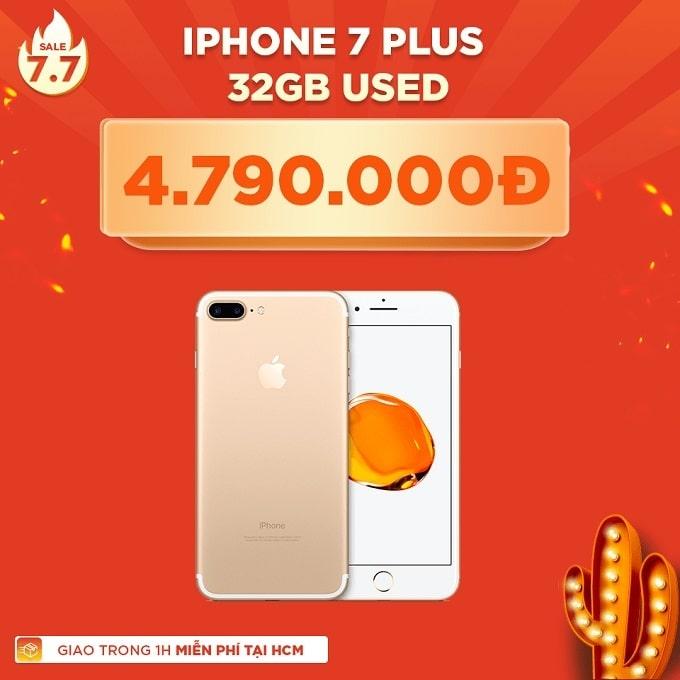 iPhone 7 Plus 32GB cũ giảm thêm 1.200.000đ