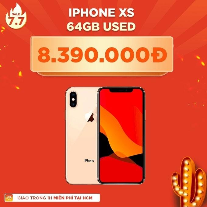 iPhone Xs 64GB cũ giảm thêm 1.600.000đ
