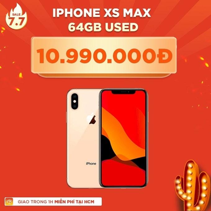 iPhone Xs Max 64GB cũ giảm thêm 2.700.000đ