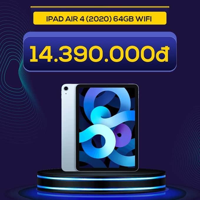 iPad Air 4 (2020) 64GB Wifi (VN/A) giảm thêm 2.600.000đ, chỉ còn 14.390.000đ