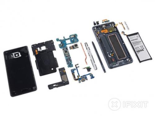 """""""Giải phẩu"""" Siêu phẩm Galaxy Note 7: Tản nhiệt chất lỏng, linh kiện dễ thay thế, Tháo mặt lưng rất khó"""