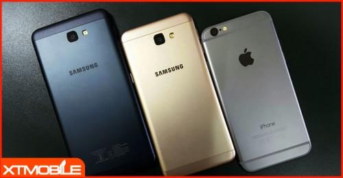 So sánh iPhone 6S Lock và Galaxy J7 Prime ở tầm giá 6 triệu