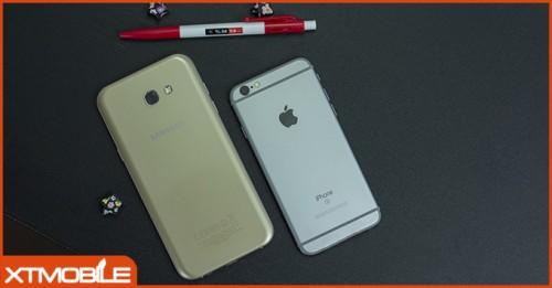 Cùng tầm giá 6 triệu mua iPhone 6S hay Galaxy A7 2017?