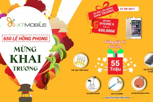 [ Re-Opening ] 650 Lê Hồng Phong - Mua Iphone 6 giá chỉ 650.000 VND