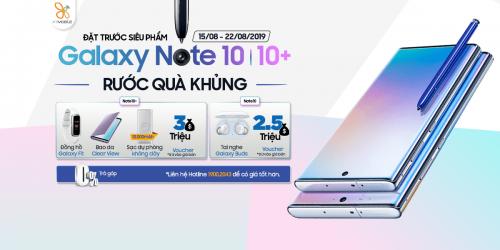 Đặt trước Galaxy Note 10 | Note 10+: Rước ngay bộ quà hơn 6 triệu