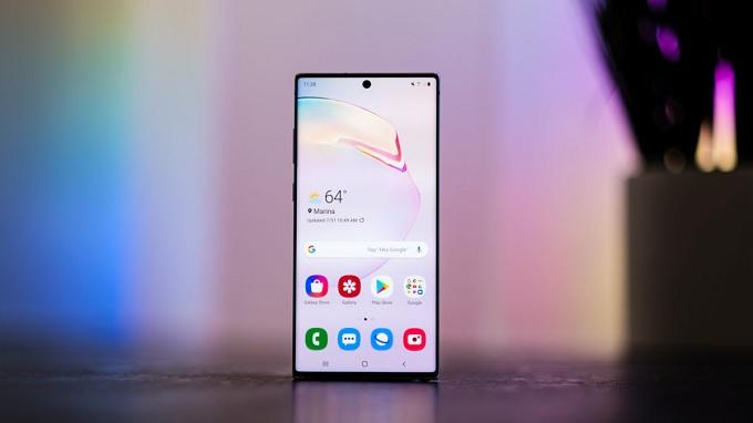 Galaxy Note 10 Plus 5G có kích thước 6.8 inch