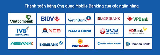 Danh sách ngân hàng áp dụng ưu đãi khi thanh toán bằng VNPay QR tại XTmobile