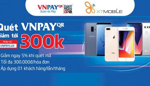 Thanh toán qua VNPAY: Điện thoại, phụ kiện giảm thêm 5% đến 300K