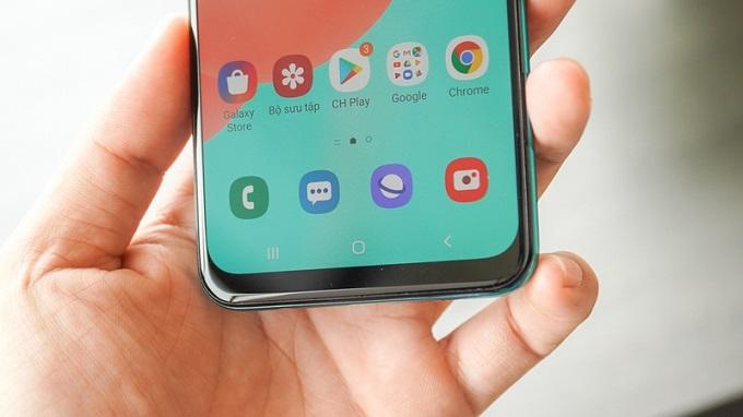 Galaxy A50s được trang bị công nghệ cảm biến vân tay dưới màn hình