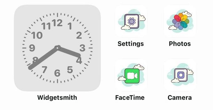 Bộ icon ứng dụng đã được thay đổi