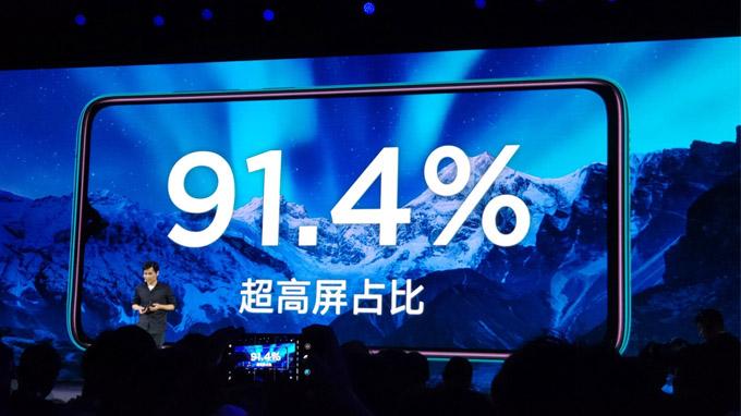 Remi Note 8 Pro có màn hình lớn gần như chiếm trọn mặt trước