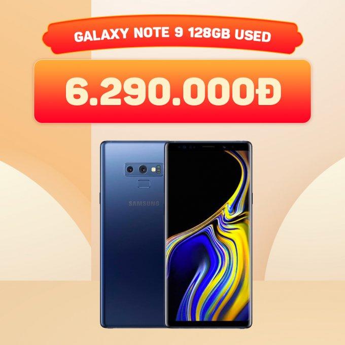 Galaxy Note 9 128GB giá chỉ 6,2 triệu đồng
