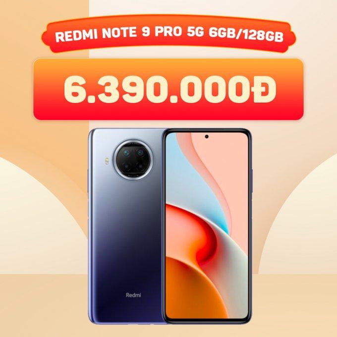 Redmi Note 9 Pro 128GB giá chỉ 6,3 triệu đồng