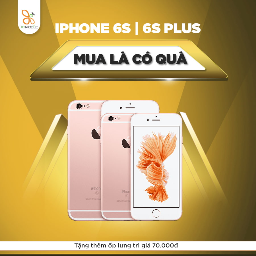 Mua iPhone 6S, 6S Plus tặng ốp lưng