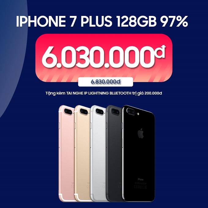 iPhone 7 Plus 128GB 97% ưu đãi đến 1.100.000đ