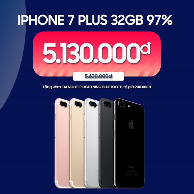 iPhone 7 Plus 32GB 97% ưu đãi đến 800.000đ
