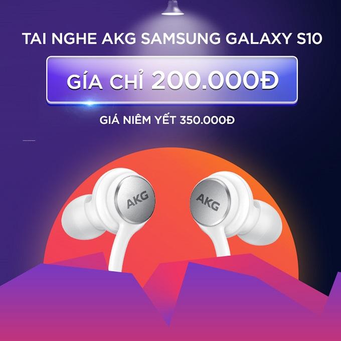 Tai nghe AKG Samsung Galaxy S10 giảm thêm đến 42%, chỉ còn 200.000đ (giá niêm yết 350.000đ)